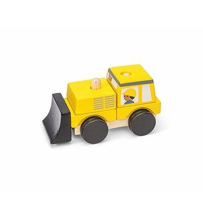 Houten Stapelspel Bulldozer