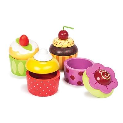 Houten Mini Schattendoosje Cupcake