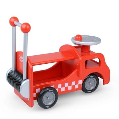 Houten Loopwagentje Brandweer 2-in-1