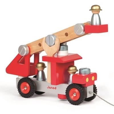 Houten Bouw- en Speelset Brandweerwagen
