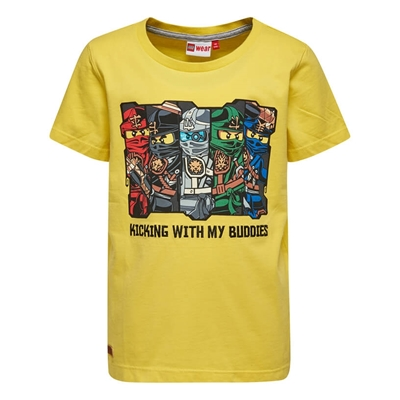 LEGO Wear Ninjago T-shirt Geel