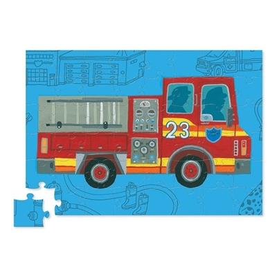 Brandweerauto met puzzel 48st.
