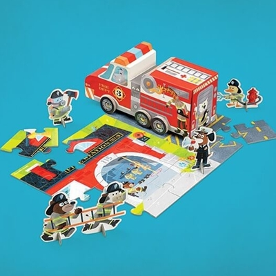 Speelset Puzzle+Play Brandweer