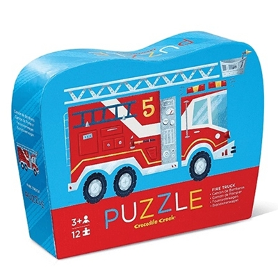 Mini-puzzel Brandweerwagen 12 st.