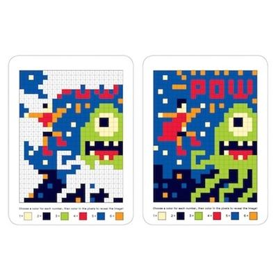 Kleurboek Pixel Pictures Superhelden