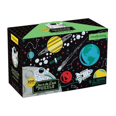 Glow in the dark Puzzel Outer Space 100 st.