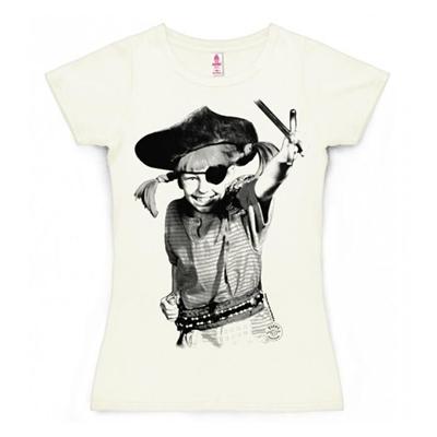 Dames T-shirt Pippi Langkous Piraat