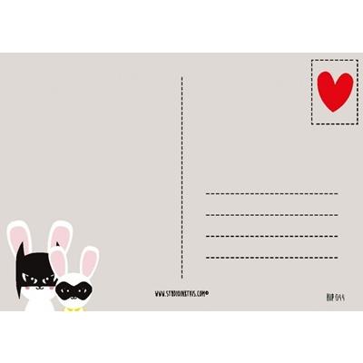 Postkaart Batbunny & Robin