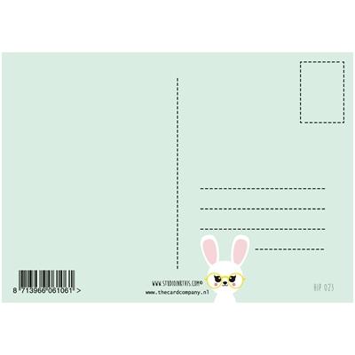 Postkaart Brilkonijn