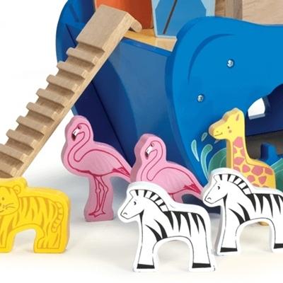 Houten Vormensorteerder Ark van Noah