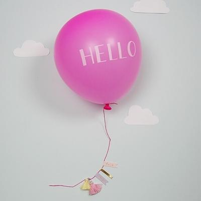 "Wenskaart ""Hello Baby"" Roze"