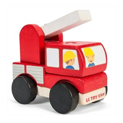 Houten Stapelspel Brandweerauto