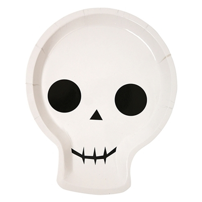 Halloween Feestbordjes Skelet (12 stuks)