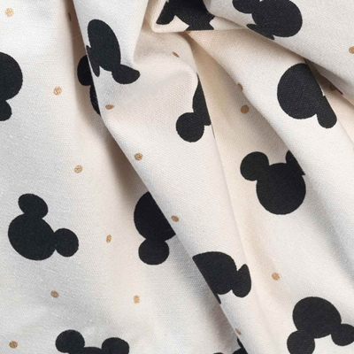 Opbergzak Disney Mickey Mouse Black and Gold