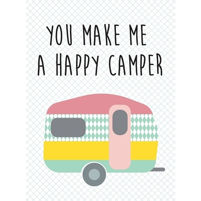 Postkaart Happy Camper