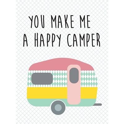 Postkaart Happy Camper
