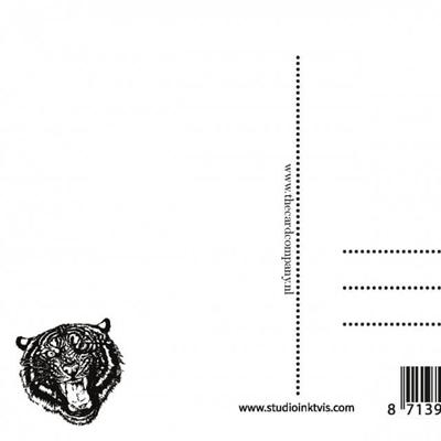 Postkaart Go get em tiger