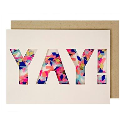 "Wenskaart Confetti ""Yay!"""