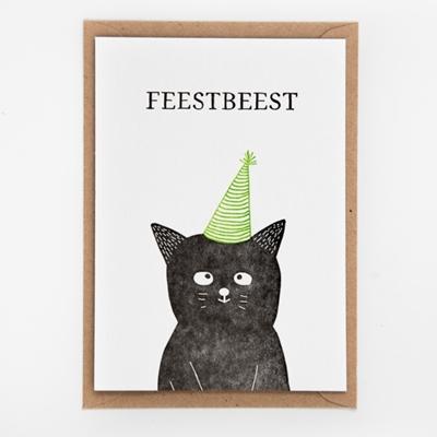 Postkaart Feestbeest