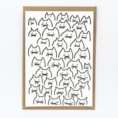 Postkaart Kattensnoeten