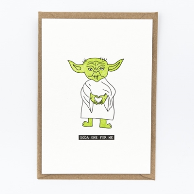 Postkaart Yoda one for me