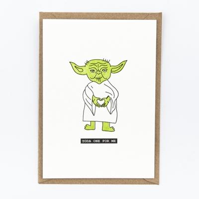 Postkaart Yoda one for me