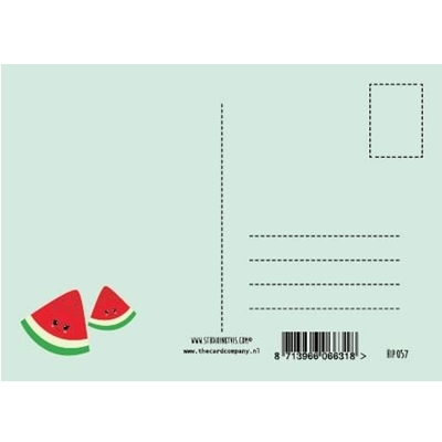 Postkaart Thanks a melon