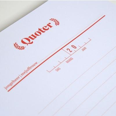 Schrijfboek Quoters