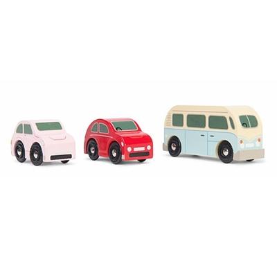 Houten Set Retro Auto's
