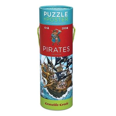 Puzzel en Poster Piraten 200 st.