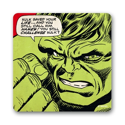 Onderzetter Marvel Comics Hulk Saved Your Life