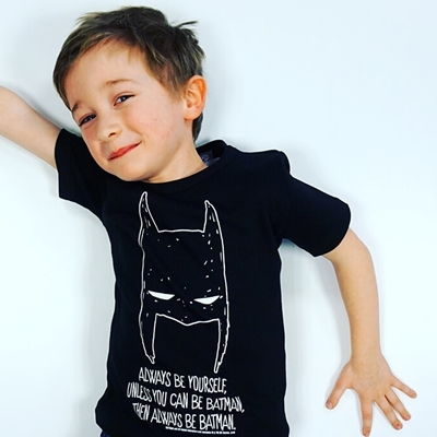 "Kids T-shirt Batman ""Always be yourself"""