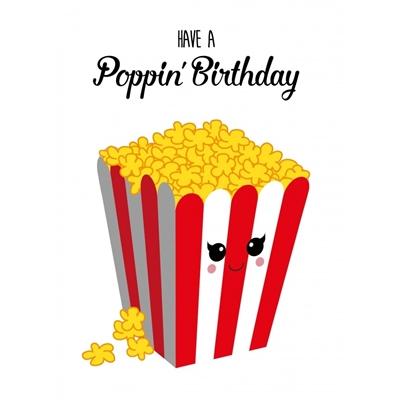 Postkaart Poppin' Birthday