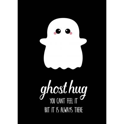 Postkaart Ghost Hug