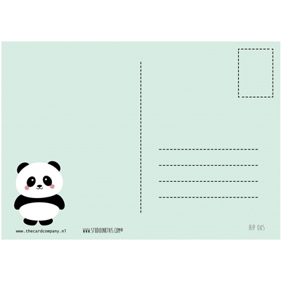 Postkaart Panda
