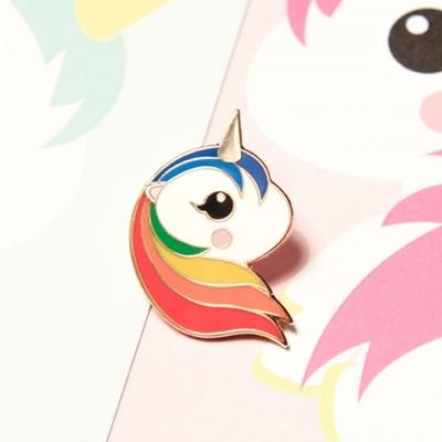 Pin Eenhoorn Regenboog