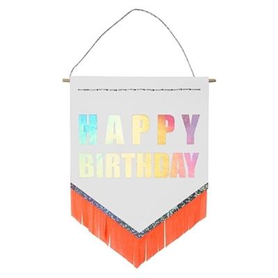 "Wenskaart Banner ""Happy Birthday"""
