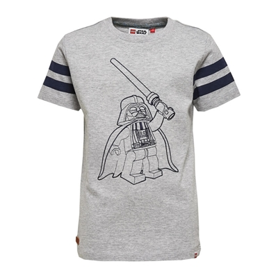 LEGO Wear Star Wars T-shirt Darth Vader Grijs maat 134