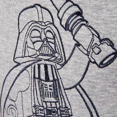 LEGO Wear Star Wars T-shirt Darth Vader Grijs
