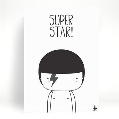 Poster Super Star A4