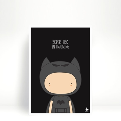 Poster Super hero in training A4