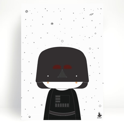 Poster Little Darth A3