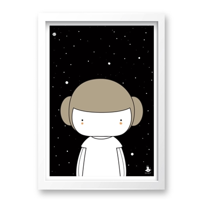 Poster Little Leia A3