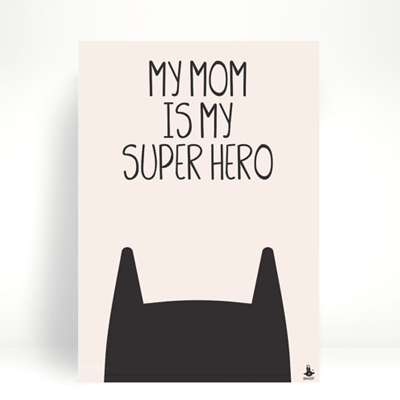 Postkaart Superhero Mom
