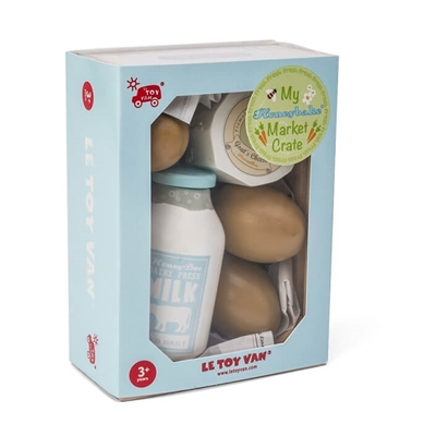 Houten Kratje Melkproducten & Eieren