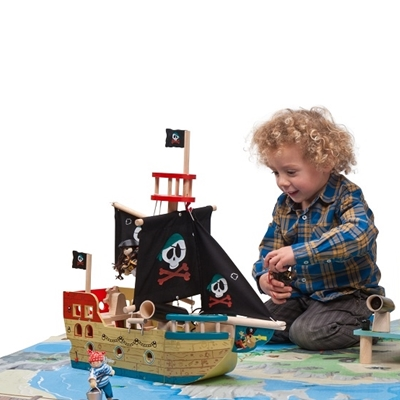 Houten Piratenboot Jolly