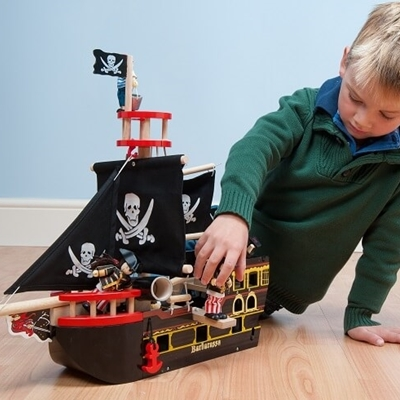 Houten Piratenboot Barbarossa