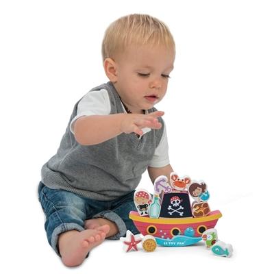 Houten Balanceerspel Piraten
