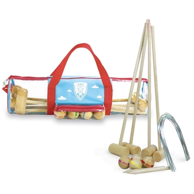Houten Speelset Croquet Junior