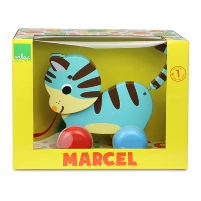 Houten Trekdiertje Marcel